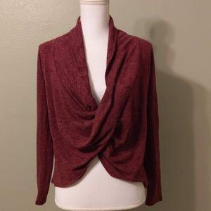 Ya Los Angeles Faux Wrap Sweater - New with Tag